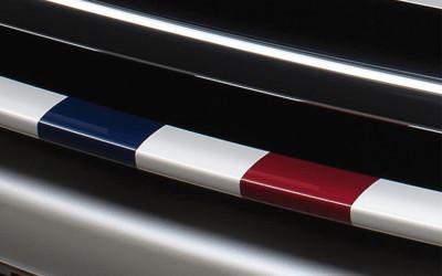 """Dekor Kühlergrill """"GTI"""" französische Flagge"""