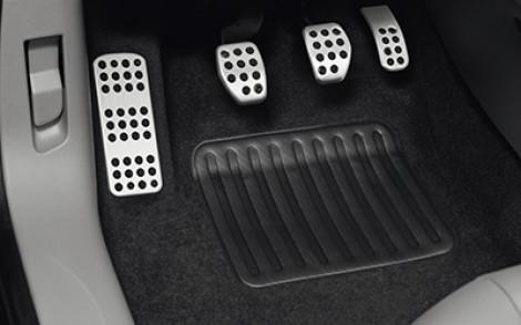 Pedalauflagen Aluminium Bremspedal Schaltgetriebe