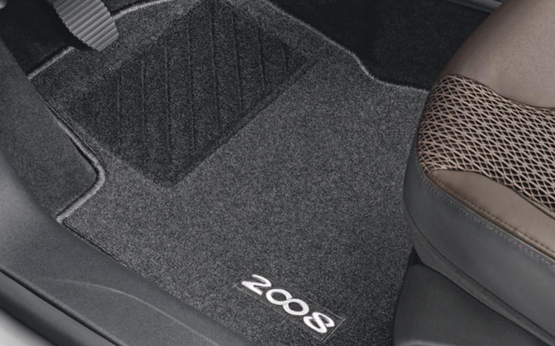 Fußmattensatz für vorn und hinten aus Nadelvlies